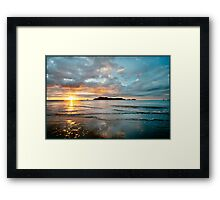 South Mission Beach Sunrise Framed Print