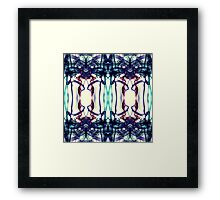Colorful Abstract Smoke Pattern Framed Print