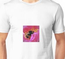 Bee at the heart of a rose Unisex T-Shirt