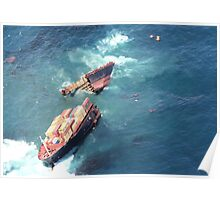 Container ship Rena sinking Poster