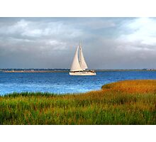 Sailing At Charleston Bay Photographic Print