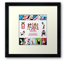 Schiffer Publishing's, The Contemporary Illustrated Pin-up. Framed Print