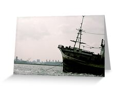 Sunken Ship in the City Greeting Card