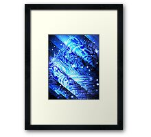 Starry cute baby tiger Framed Print