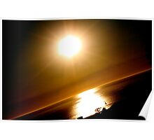 Slanted Sunset Poster