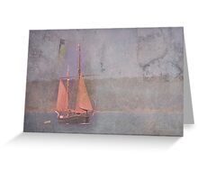 Sailing the Channel Greeting Card