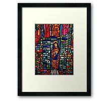 Nativity Mosaic - the Virgin Mary and Jesus Framed Print
