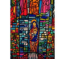 Nativity Mosaic - the Virgin Mary and Jesus Photographic Print