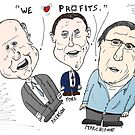 Big Three Car Boss caricature by Binary-Options