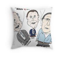 Caricature des chefs des grandes compagnies de voitures Throw Pillow