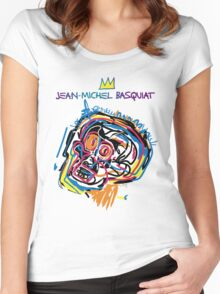 Jean Michel Basquiat Head Version 2 Women's Fitted Scoop T-Shirt