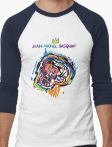 Jean Michel Basquiat Head Version 2 Men's Baseball ¾ T-Shirt