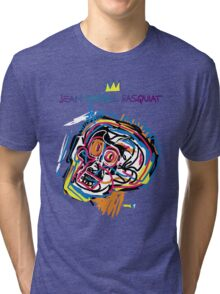 Jean Michel Basquiat Head Version 2 Tri-blend T-Shirt