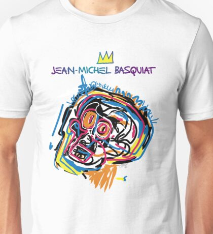Jean Michel Basquiat Head Version 2 Unisex T-Shirt
