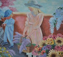 Kids and blooms by Bellarina74