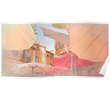 Sintra . an umbrella shade never blocks a sky view:) Poster