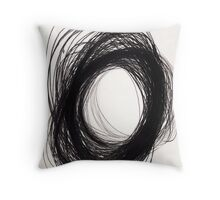power of lines Throw Pillow