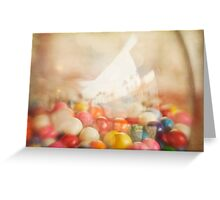 Still Life with Gumballs Greeting Card