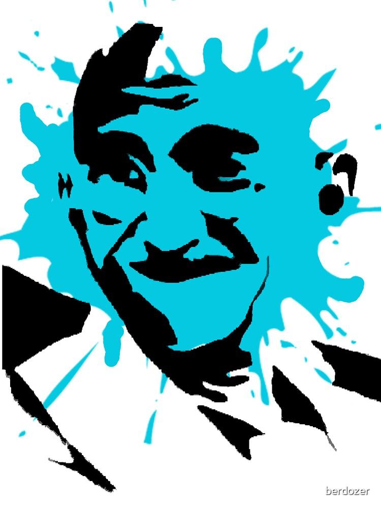 Gandhi Splat Stencil by berdozer