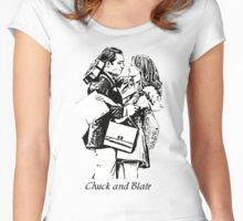 Chuck and Blair - I love you Women's Fitted Scoop T-Shirt