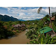 Cloudy Day in Vang Vieng Photographic Print