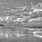 Cloudscape at Tallows Beach Byron Bay by Cheryl Styles