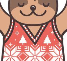 Christmas Kiss Sloth with Mistletoe Sticker