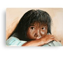 Inuit girl Canvas Print