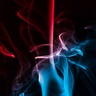Blue and Red Smoke by handyandypandy