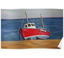 Little Fishing Boat Poster
