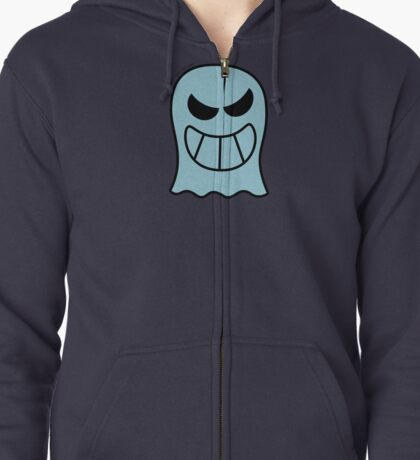 Naughty Halloween Ghost Zipped Hoodie