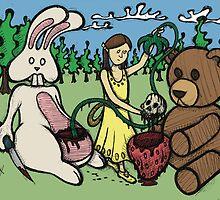 Teddy Bear and Bunny - Hidden Treasures by Brett Gilbert