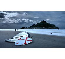 A Morning Walk at St Michaels Mount Photographic Print
