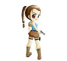 Lara Croft Chibi Anime Photographic Print
