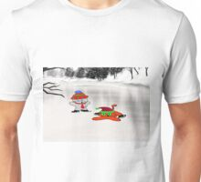 A Cat Teaches His Friend To Ice-Skate Unisex T-Shirt
