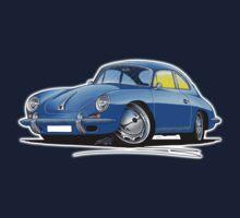Porsche 356 C Blue Baby Tee