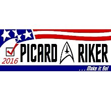 Picard - Riker a ticket you can believe in Photographic Print