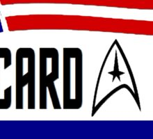 Picard - Riker a ticket you can believe in Sticker