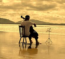 Cello by the sea by mattzarb