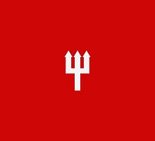 Minimalistic Manchester United Trident Design - Red & White by conormizen