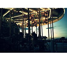 Carousel by night Photographic Print