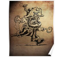 Steam Powered Pirate posters and prints Poster