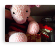 12/365  When in need, there is always Piglet Canvas Print