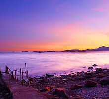 Sunset along the coast under long exposure by kawing921
