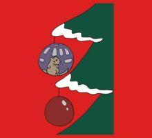 Gerbil Tree Bauble Ball One Piece - Short Sleeve