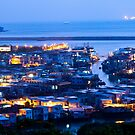 Tai O fishing village at night in Hong Kong by kawing921
