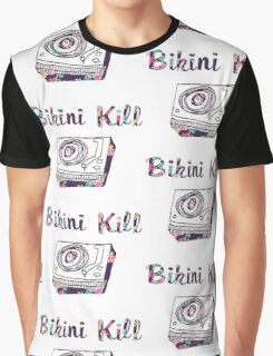 Floral Bikini Kill Design Graphic T-Shirt