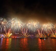Fireworks in Hong Kong along Chinese New Year 2011 by kawing921