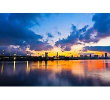 Hong Kong skyline at sunset Photographic Print
