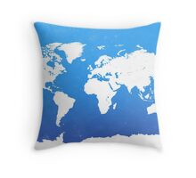 World map I World Throw Pillow